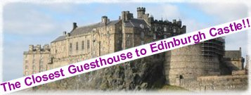 Edinburgh Bed & Breakfast Edinburgh castle image - closest guesthouse to edinburgh castle